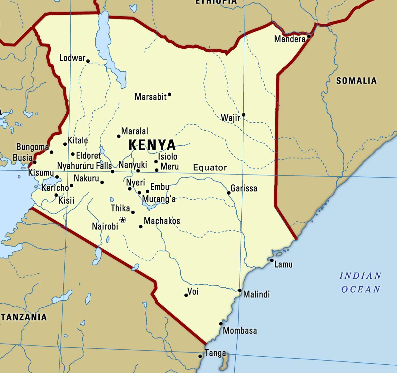 Kenia Mapa De Imagen De Mapa De Kenia Mapa De Imagen Este De
